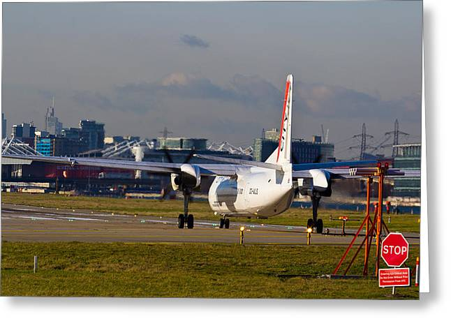 Traffic Control Greeting Cards - Waiting for Take-off  Greeting Card by David Pyatt