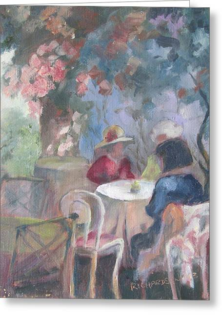 Empty Chairs Greeting Cards - Waiting for Tea Greeting Card by Susan Richardson