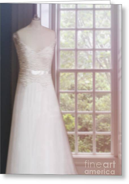 Bridal Gown Greeting Cards - Waiting for the Day Greeting Card by Margie Hurwich