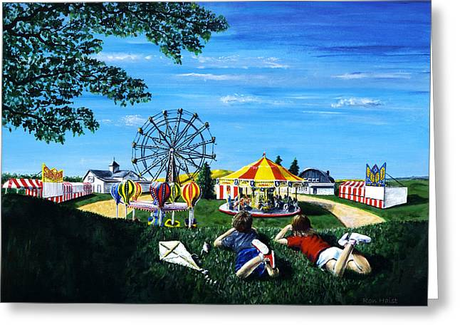 Kite Greeting Cards - Waiting for the Fair Greeting Card by Ron Haist