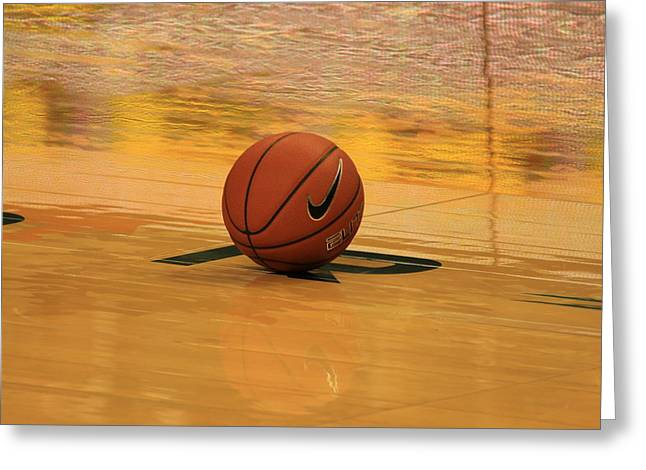 Basket Ball Game Greeting Cards - Waiting for the Game Greeting Card by Laddie Halupa