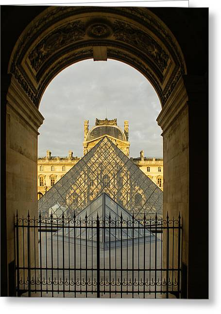 Popular Art Greeting Cards - Waiting for the Louvre to Open Greeting Card by Georgia Mizuleva