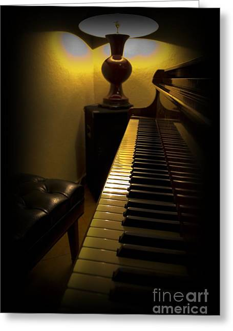 Merriment Greeting Cards - Waiting For The Music Greeting Card by Al Bourassa