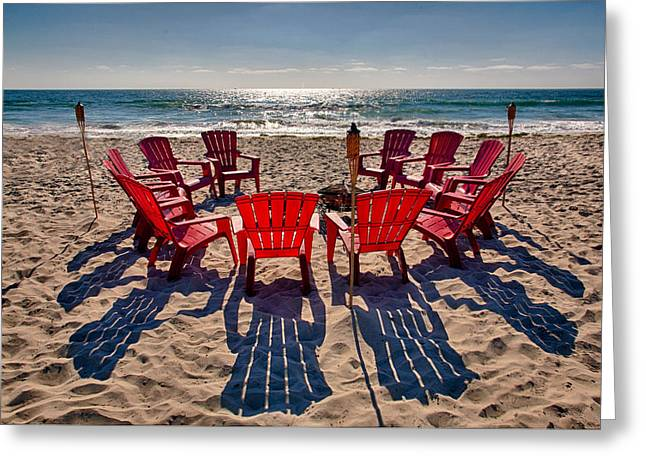 Lawn Chair Greeting Cards - Waiting for the Party Greeting Card by Peter Tellone