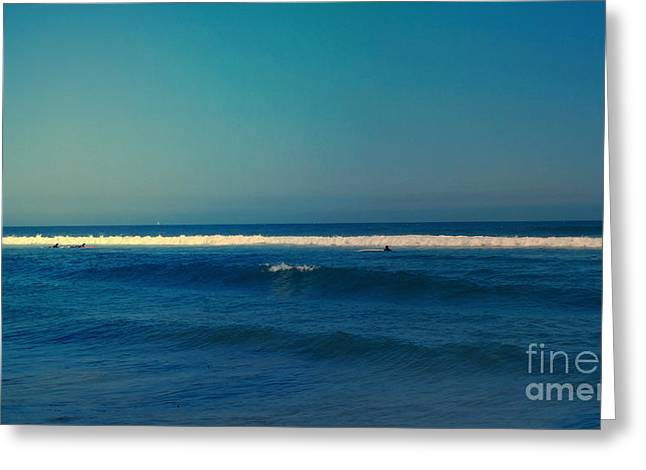 Waiting For The Perfect Wave Greeting Card by Nina Prommer