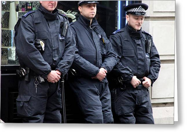waiting for the riots Greeting Card by Jez C Self