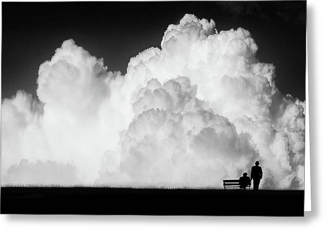 Black Greeting Cards - Waiting For The Storm Greeting Card by Stefan Eisele