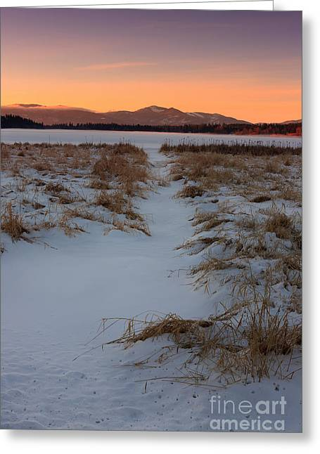 © Beve Brown-clark Greeting Cards - Waiting for the Sunrise - Hauser Lake Greeting Card by Reflective Moments  Photography and Digital Art Images