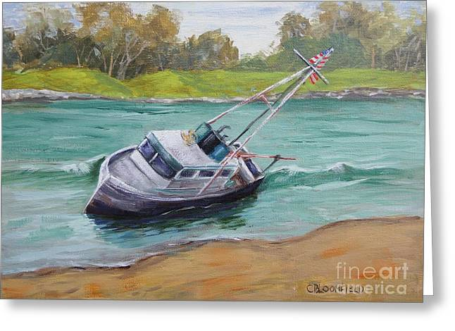 Moss Landing Boats Greeting Cards - Waiting for the Tide Greeting Card by Cheryl Bloomfield