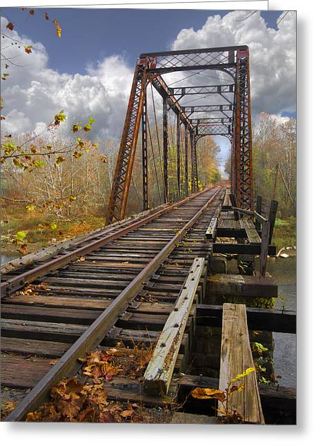Tennessee River Greeting Cards - Waiting for the Train Greeting Card by Debra and Dave Vanderlaan