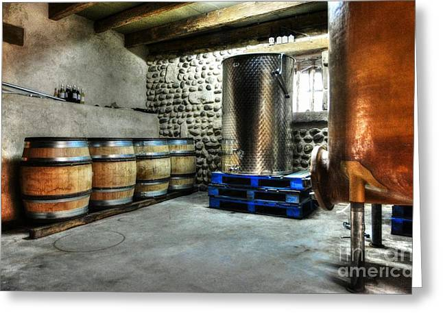 Fermentation Photographs Greeting Cards - Waiting For Wine Greeting Card by Mel Steinhauer