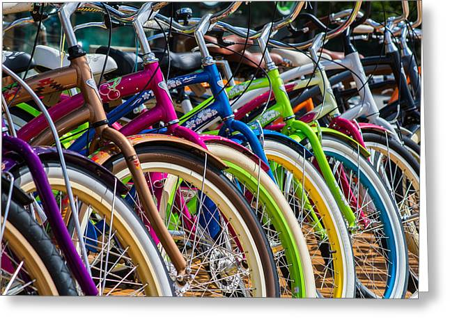 Bike Trip Greeting Cards - Waiting For You - Featured 3 Greeting Card by Alexander Senin