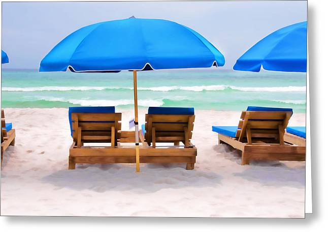Panama City Beach Digital Painting Greeting Card by Vizual Studio