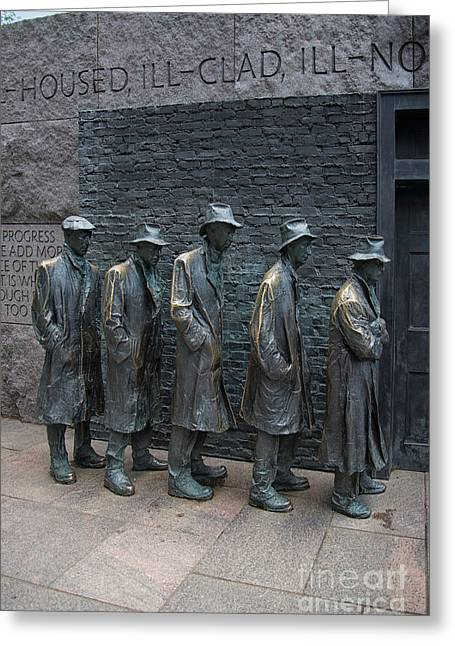Franklin Roosevelt Digital Art Greeting Cards - Waiting In Line Greeting Card by Carol Ailles