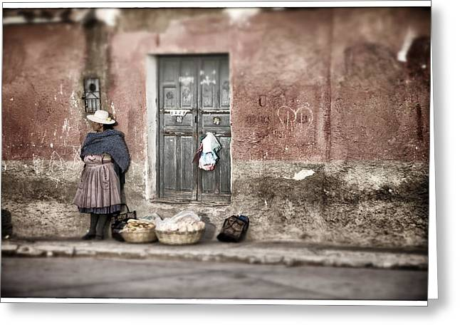 Bolivia Blog Greeting Cards - Waiting in Potosi Greeting Card by For Ninety One Days