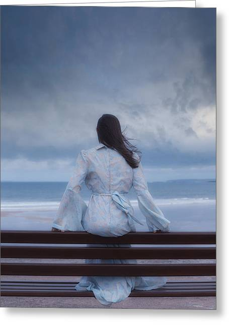 Woman Waiting Greeting Cards - Waiting In The Wind Greeting Card by Joana Kruse