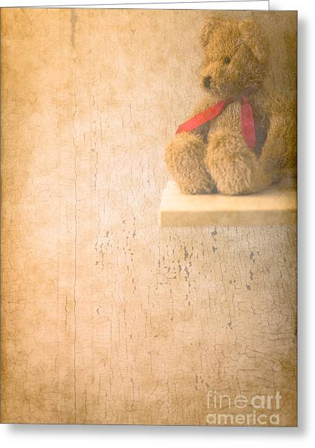 Child Toy Greeting Cards - Waiting  Greeting Card by Jan Bickerton