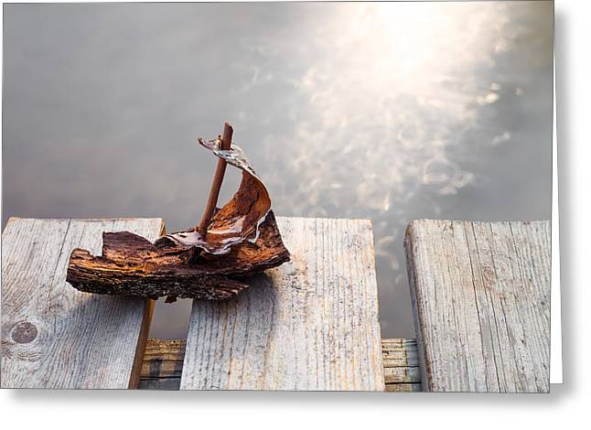 Toy Boat Greeting Cards - Waiting Greeting Card by Janne Mankinen