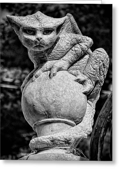 Garden Statuary Greeting Cards - Waiting Greeting Card by K Hines