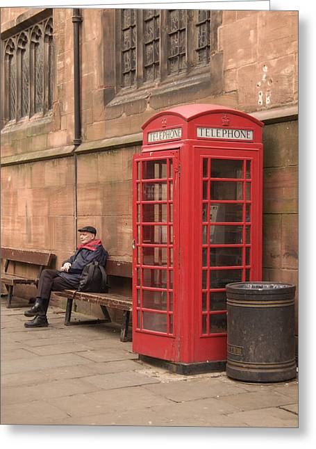 Telephone Greeting Cards - Waiting on a Call Greeting Card by Mike McGlothlen