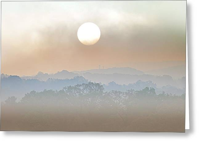 Foggy Day Greeting Cards - Waiting on a Sunny Day Greeting Card by Bill Cannon