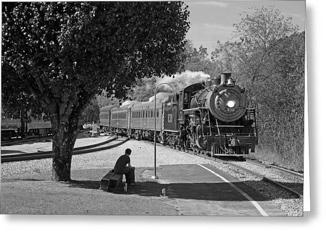 21st Greeting Cards - Waiting on a train Greeting Card by Joseph C Hinson Photography