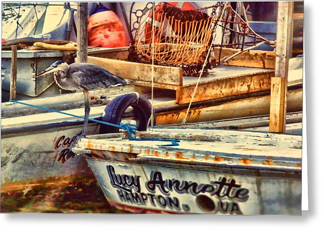 Boats At The Dock Greeting Cards - Waiting on Miss Lucy Greeting Card by Olahs Photography