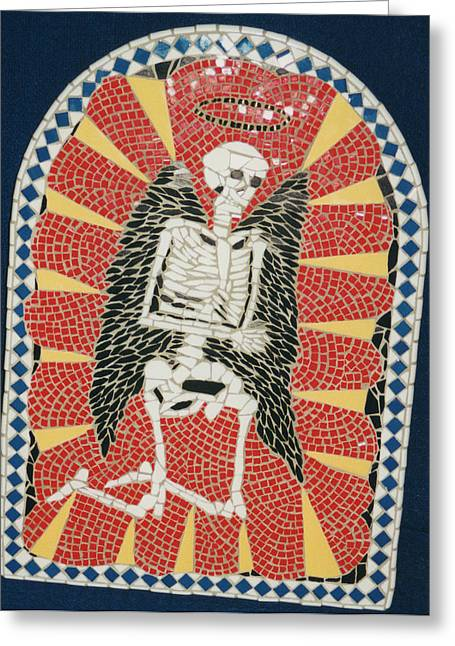 Mosaic Ceramics Greeting Cards - Waiting on the Lord Greeting Card by Pj Flagg Tongue in Chic
