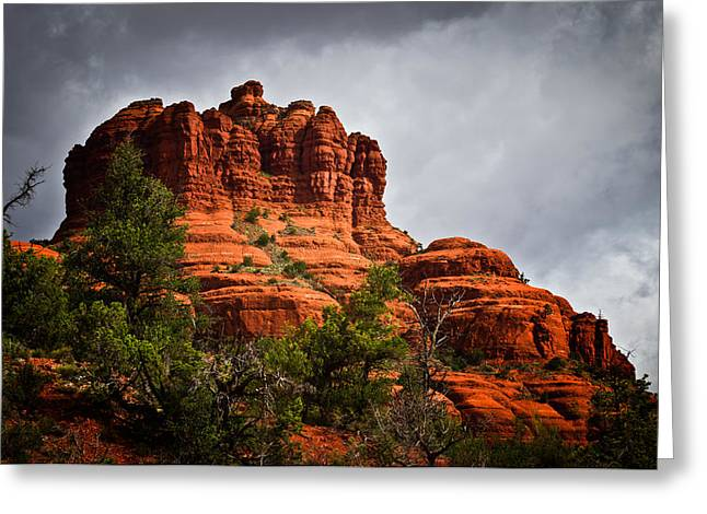 Bell Rock Greeting Cards - Waiting on the Thunder Greeting Card by Buffalo Fawn Photography