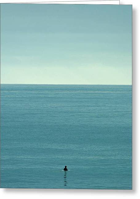 Ocean Images Greeting Cards - Waiting Greeting Card by Peter Tellone
