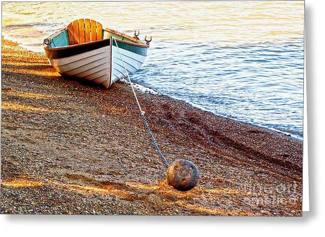China Beach Greeting Cards - Waiting Greeting Card by Roselynne Broussard