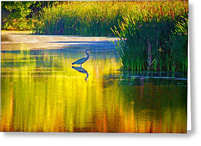 Waiting Greeting Card by Steven  Michael