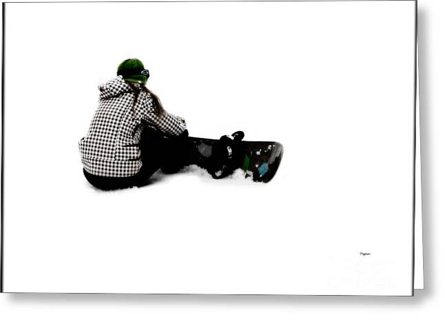 Ski Art Greeting Cards - Waiting to Board  Greeting Card by Steven  Digman