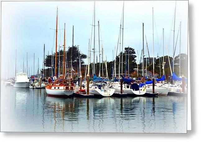 Santa Cruz Sailboat Greeting Cards - Waiting to Sail Santa Cruz Greeting Card by Marilyn MacCrakin