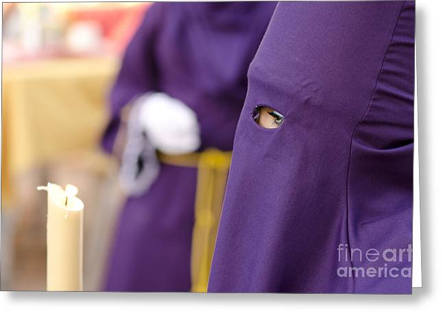 Holy Week Greeting Cards - Waiting to start the procession Greeting Card by Perry Van Munster