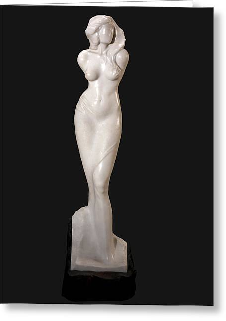 Goddess Sculptures Greeting Cards - Waiting with grace Greeting Card by Jacek Sumeradzki