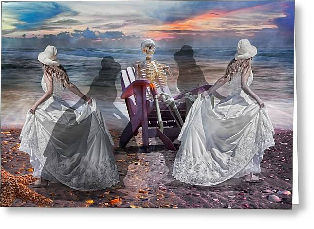 Gown Digital Art Greeting Cards - Waiting with the Shadows Greeting Card by Betsy A  Cutler