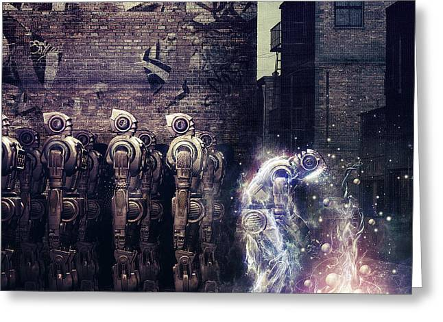 Power Digital Art Greeting Cards - Wake Up Greeting Card by Cameron Gray