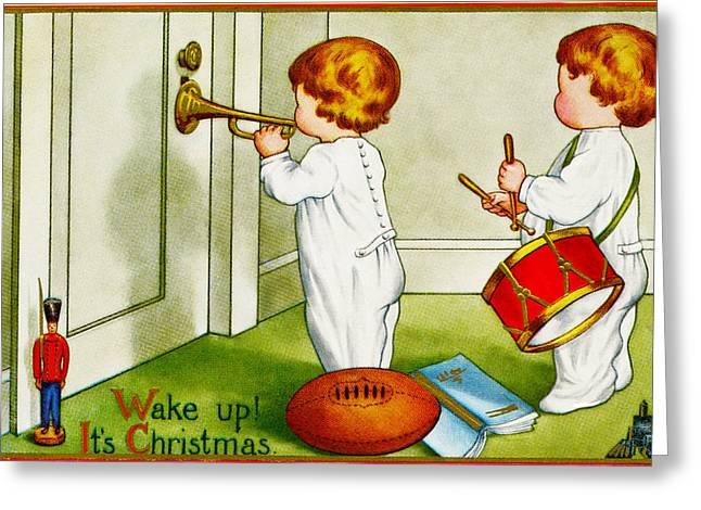 Religious Art Digital Art Greeting Cards - Wake Up Its Christmas Greeting Card by Wake Up Its Christmas
