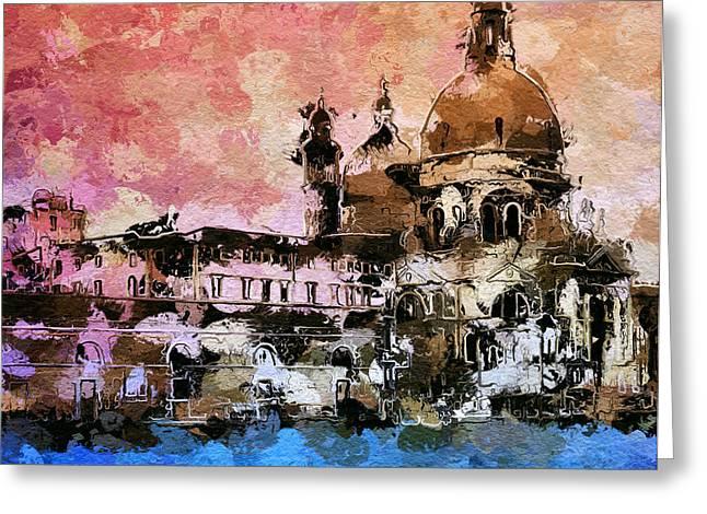 Gondolier Digital Art Greeting Cards - Wake up Venice Greeting Card by Yury Malkov