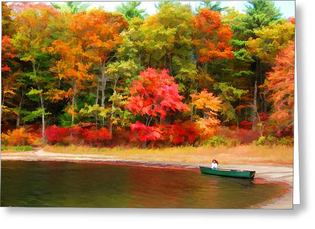 Walden Pond Greeting Cards - Walden Pond - Contemplation Greeting Card by Tom Christiano