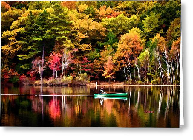 Lake Walden Greeting Cards - Walden Pond Fall Greeting Card by Garland Johnson