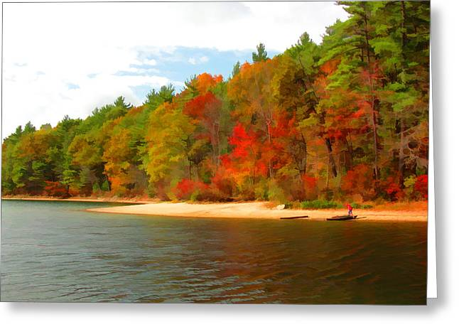 Walden Pond Greeting Cards - Walden Pond - Solitude Greeting Card by Tom Christiano
