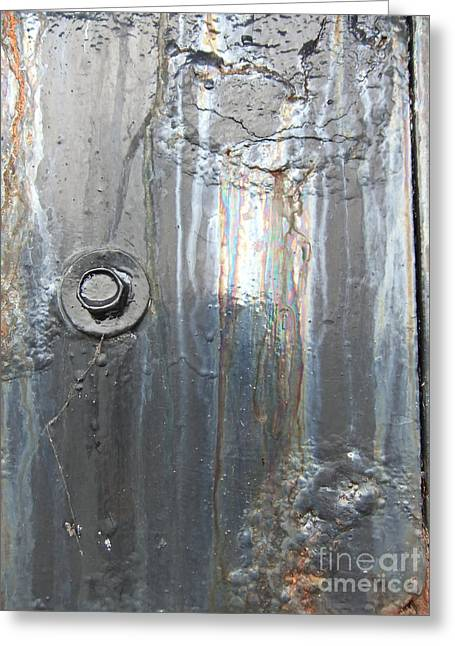 Oil Slick Greeting Cards - Wales Cardiff Detail Three Greeting Card by Coventry Wildeheart