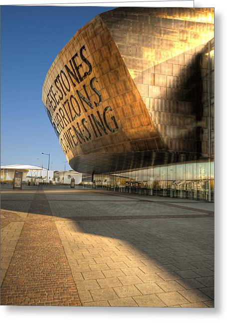 Roald Dahl Greeting Cards - Wales Millennium Centre 2 Greeting Card by Steve Purnell