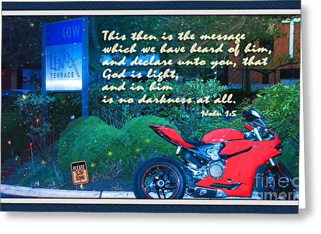 In His Light Greeting Cards - Walk In His Light Greeting Card by Terry Wallace