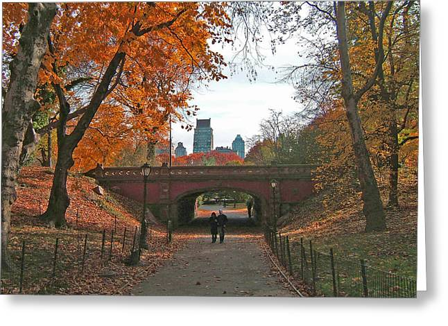 Walk In The Park Greeting Card by Barbara McDevitt