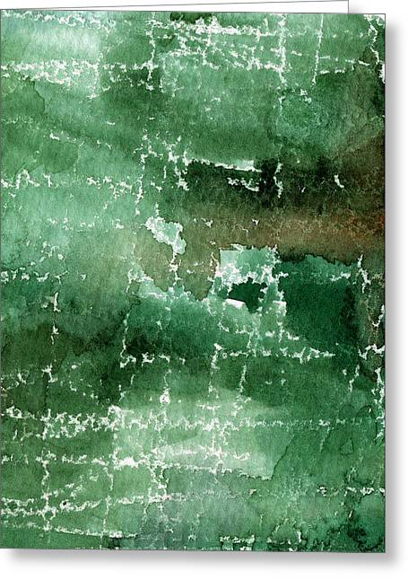 Abstract Nature Art Greeting Cards - Walk In The Park Greeting Card by Linda Woods