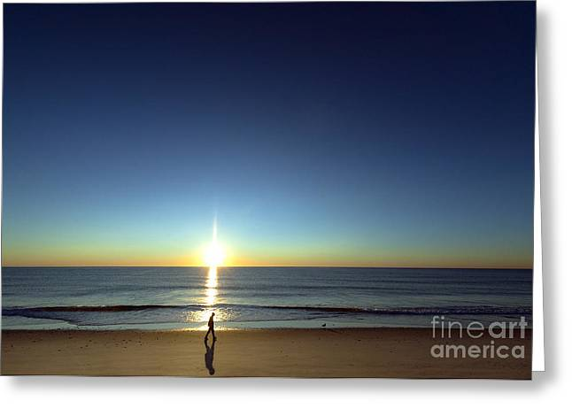 Nauset Beach Greeting Cards - Walk in the Sun Greeting Card by John Greim