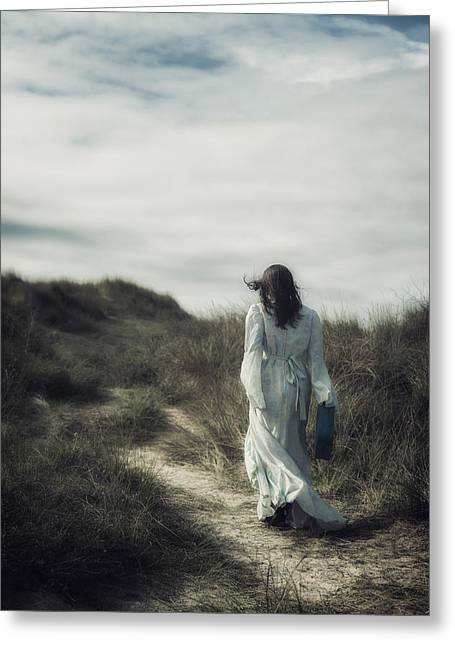 Pensive Greeting Cards - Walk In The Wind Greeting Card by Joana Kruse